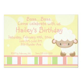 "Diddles Farm Lamb Birthday Invitation 2 5"" X 7"" Invitation Card"