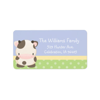Diddles Farm Moo-Cow Address Label B