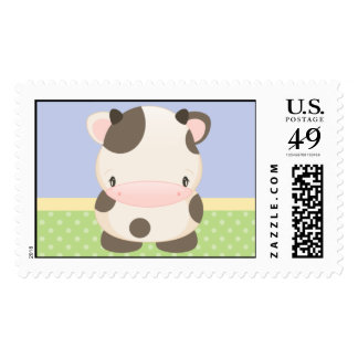 Diddles Farm Moo-Cow B Postage Stamp