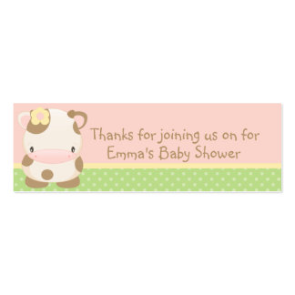 Diddles Farm moo-Cow Baby Shower Favor Tag Double-Sided Mini Business Cards (Pack Of 20)