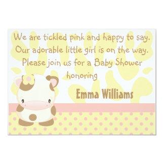 "Diddles Farm Moo-Cow Baby Shower Invitation 5"" X 7"" Invitation Card"