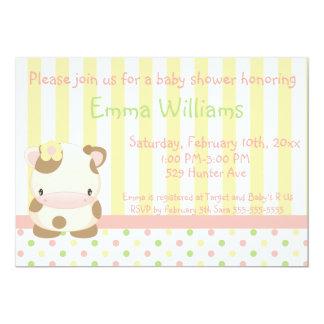 "Diddles Farm Moo-Cow Baby Shower Invitation 4 5"" X 7"" Invitation Card"