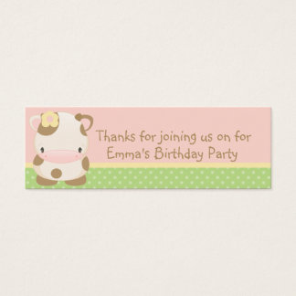 Diddles Farm moo-Cow Birthday Party Favor Tag
