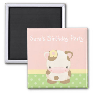 Diddles Farm Moo-Cow Birthday Party Magnet Favor