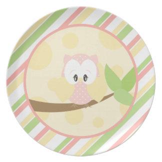 Diddles Farm Owl Plate