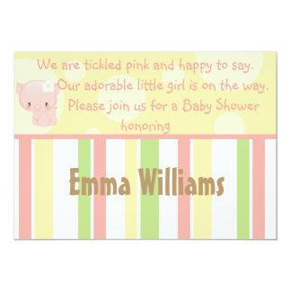 "Diddles Farm Pig Baby Shower Invitation 5"" X 7"" Invitation Card"