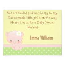 Diddles Farm Pig Baby Shower Invitation