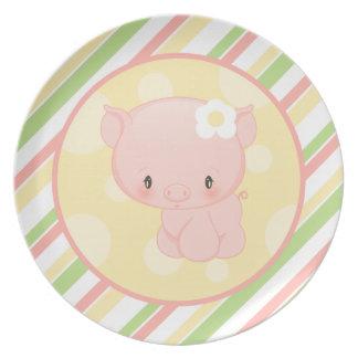 Diddles Farm Piggy Plate