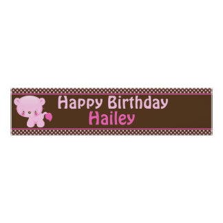 Diddles Girl Lion Birthday Banner Posters