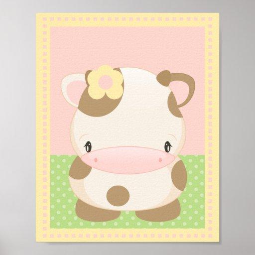 Diddles la impresión del arte de la MOO-Vaca Poster