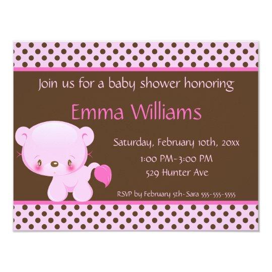 Diddles Lion Girl Baby Shower Invitation