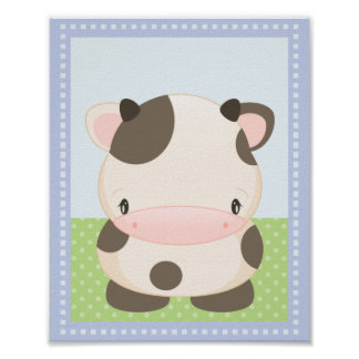 Diddles Moo-Cow Art Print