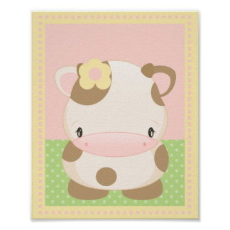 Diddles Moo-Cow Art Print