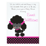 "Diddles Poodle Baby Shower Invitation 4.25"" X 5.5"" Invitation Card"