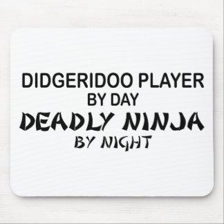 Didgeridoo Deadly Ninja by Night Mouse Mats