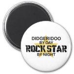 Didgeridoo Rock Star by Night 2 Inch Round Magnet