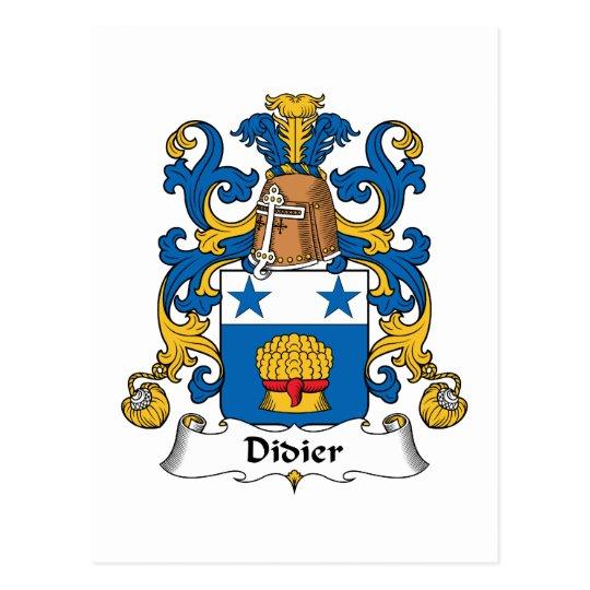 Didier Family Crest Postcard