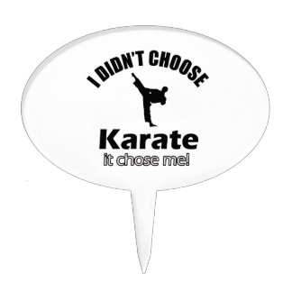 Didn't choose karate cake toppers