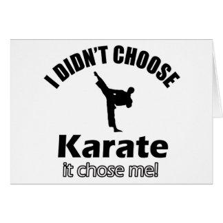 Didn't choose karate card