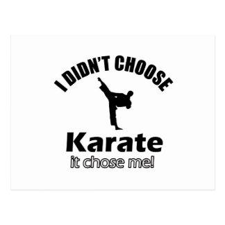 Didn't choose karate postcard