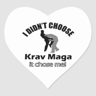 Didn't choose krav maga heart sticker