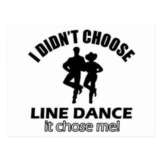 Didn't choose Line Dance Postcard