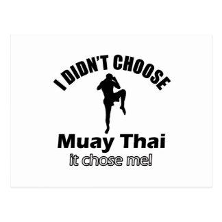 Didn't choose muay thai postcard