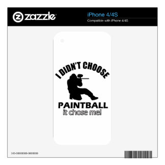 Didn't choose Paintball Skin For The iPhone 4