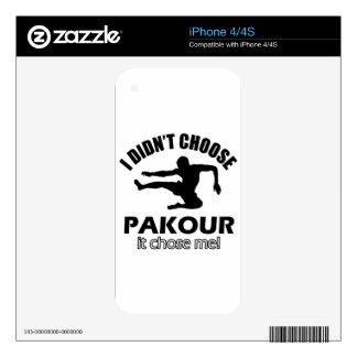 Didn't choose pakour skin for iPhone 4