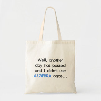 Didn't Use Algebra Once Today Bag