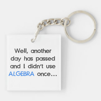 Didn't Use Algebra Once Today Keychain