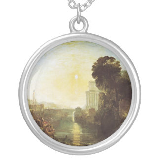 Dido Building Carthage Round Pendant Necklace