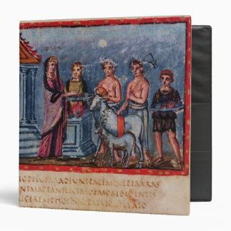 Dido making a sacrifice, from Vergilius Vaticanus Binder