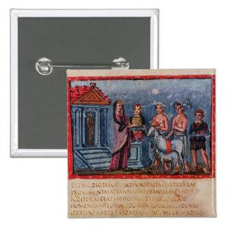 Dido making a sacrifice, from Vergilius Vaticanus Button