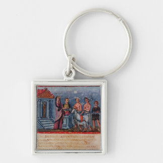 Dido making a sacrifice, from Vergilius Vaticanus Keychain