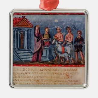 Dido making a sacrifice, from Vergilius Vaticanus Metal Ornament
