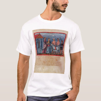 Dido making a sacrifice, from Vergilius Vaticanus T-Shirt