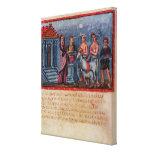 Dido que hace un sacrificio, de Vergilius Vaticanu Lona Envuelta Para Galerias