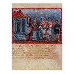 Dido que hace un sacrificio, de Vergilius Vaticanu Postal