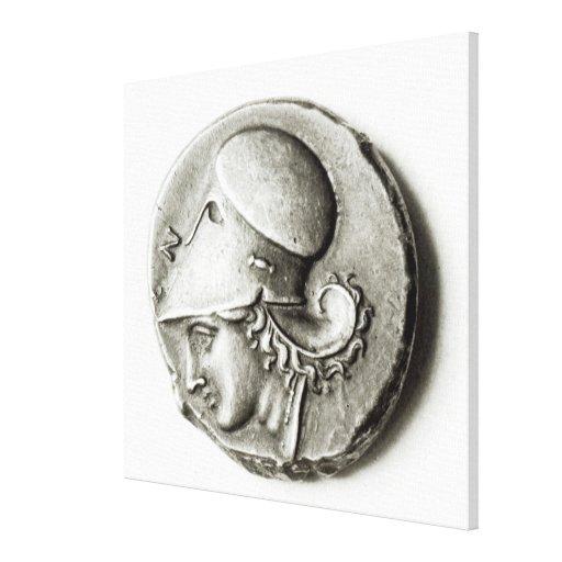 Didrachma de Heracles: Athena de representación an Impresion En Lona