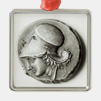 Didrachma of Heracles: obverse depicting Athena Metal Ornament