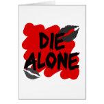 die alone greeting card