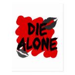 die alone postcard