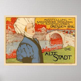 Die Alte Stadt by Otto Fischer Poster