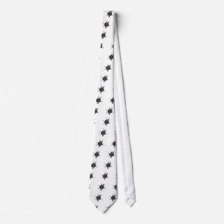 Die-Atom(Outline All Black)(Inside All Gray) Neck Tie