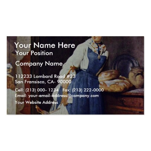 Die Besorgerin By Chardin Jean-Baptiste Siméon (Be Business Card Template
