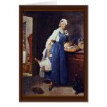 Die Besorgerin By Chardin Jean-Baptiste Siméon (Be Card