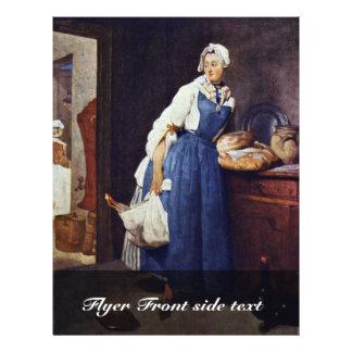 """Die Besorgerin By Chardin Jean-Baptiste Siméon (Be 8.5"""" X 11"""" Flyer"""
