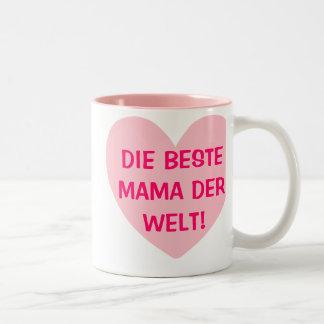 DIE BESTE MAMA DER WELT! Zweifarbige Tasse Two-Tone Coffee Mug