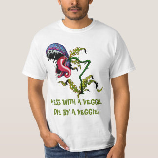 DIE BY A VEGGIE: CARNIVOROUS PLANT T SHIRTS